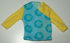 Barbie Doll Shirt Top Two Tone Blue Yellow T27