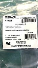 BRADY Thermatab Markers THT-47-423-10 (Partial Roll)