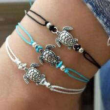 Vintage Anklets Women Boho Turtle Rope Anklet Beach Bracelet Animal Foot Jewelry