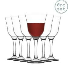 Wine Glasses Vintage White Wine Glass Set - 295ml - Pack of 6 LAV Vals Chalices