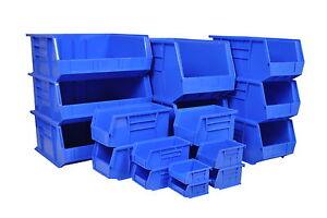 Rhino Tuff Plastic Part Bins - Strong Stacking Garage Storage Boxes Lin Box