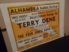 A3 SIZE TERRY DENE POSTER, ALHAMBRA, BRADFORD, DATE UNKNOWN  1958?? ??