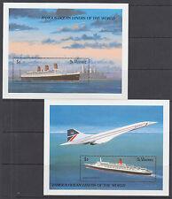 St. Vincent Sc 1181-1182 MNH. 1989 Ocean Liners, cplt set of Souvenir Sheets, VF