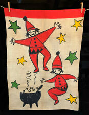 Large Vintage Scandinavian Santa Claus Christmas Gift Sack / Bag / Wall Hanging