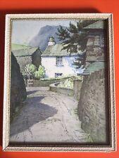 More details for vintage w heaton cooper picture dove cottage grasmere original framed pencil art