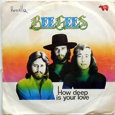 DISCO VINILE 45 GIRI BEE GEES HOW DEEP YOUR LOVE ITALY 1976