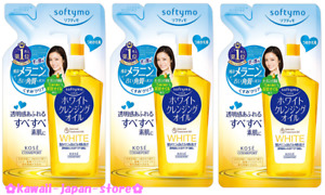 KOSE Softymo White Cleansing Oil Makeup Remover Refill 200ml x 3 lot from Japan