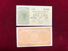 Regno d'Italia 2 Lire Luogotenenza 23-11-1944 Ventura FDS UNC
