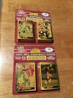 Score 1991 Series 1 NFL Football 101 Trading Cards Brand New And Sealed Lot of 2