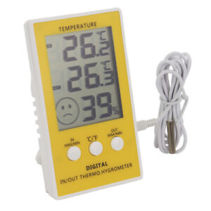 MAX MIN REPTILE TANK THERMOMETER - MAIN UNIT HYGROMETER IN/OUT 1 M CABLE  IN-064