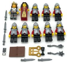 LEGO 10 CASTLE KNIGHT KINGDOMS MINIFIGURES KING QUEEN MEN WEAPONS ARMOR FIGURES