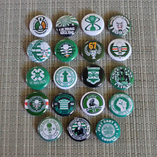19 Ultras FC St. Pauli / Celtic Glasgow /  Button Pins / Badges / 1 Inch / 25 mm