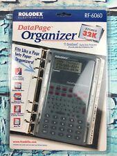 W31- Rolodex Electronic DataPage Organizer 32K Memory RF-6060 Planner PDA
