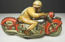 Vintage Schuco MOTO DRILL 1006 Tin Litho Motorcycle Toy, US Zone, Germany