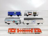 BZ934-0,5# 4x Märklin H0/AC Güterwagen DB: Schinner + Andechs etc, sehr gut