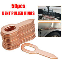 50x Copper Plated Oval Dent Puller Rings For Car Body Panel Pulling Washer Kit