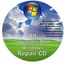 Windows Boot-Repair-Data Recovery DISK XP, Vista, 7, 8, 8.1 & 10 2cd Pack...