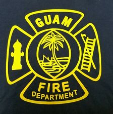 GUAM FIRE DEPARTMENT Mens T-Shirt - Large - Great Condition! Hard to get!