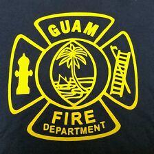 "GUAM FIRE DEPARTMENT Mens T Shirt - Large - 22"" PTP - Great Condition!"