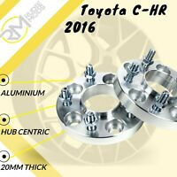 Toyota C-HR 2016 on 5x114.3 60.1 20mm Hubcentric wheel spacers 1 Pair UK MADE