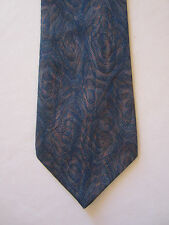 SUPERBE CRAVATE PIERRE CARDIN BLEUE 100 % SOIE MOTIFS MADE IN FRANCE HOMME