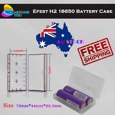 Efest H2 Clear White Battery Case holder for 2pcs 18650 / 4 pcs 18350 batteries