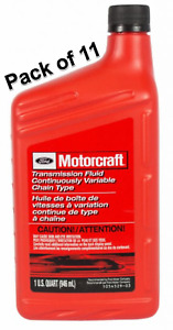 11 Quarts Auto Trans Fluid Continuously Variable Chain Type Motorcraft XT-7-QCFT