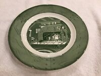 """Colonial Homestead Green by Royal 9 7/8"""" DINNER PLATE, USA"""