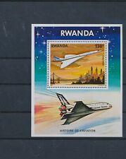 LL93659 Rwanda aviation aircraft airplanes good sheet MNH