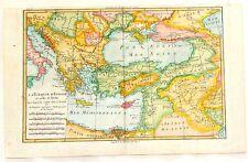 """Bonne - Raynal's Hand-Col'd Atlas de Toutes -""""LA TURQUIE D'EUROPE & ASIA"""" -1780"""