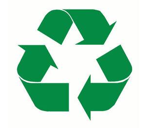 x2 recycle logo recyling sticker windows walls doors bins van car vinyl graphic