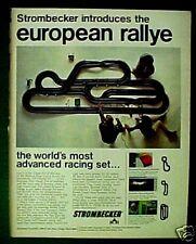 1966 Strombecker Slot Cars European Rallye Race Sets Oddball Promo Toy Print Ad