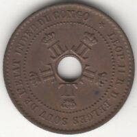 1888 Congo Free State Leopold II Centime | World Coins | Pennies2Pounds