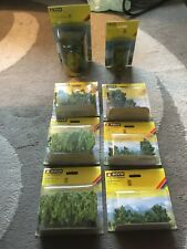 More details for lot x8 noch ho scale weeping willows/tree & treehouse/bushes /tree & bench  new