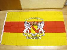 Fahnen Flagge Baden Großherzogtum Schrift NEU - 90 x 150 cm