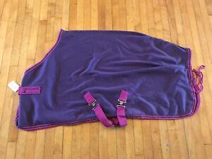 "Horseware Ireland Amigo Purple Pink Pony Cooler Shipping Blanket Rug 4'6"" 54"""