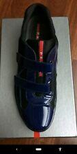 Prada Calzature Blue Velcro Style Luxury sneaker shoes Men's Size 9US $540 CLEAN