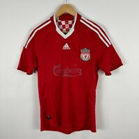 Adidas Liverpool Soccer Football Jersey Mens Small Red Short Sleeve 2008