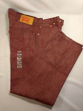$100 Mens LEVIS Classic 501 SHRINK TO FIT 38 x 32 BURGUNDY RIGID Oak Cone Red