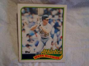 1989 MARK McGWIRE TWO POCKET TOPPS FOLDER Oakland Athletics A's,baseball,mlb