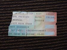 Santana 8/4/1979 Wisconsin Band Used Concert Ticket Stub