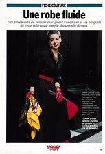 Patron couture Modes et travaux septembre 1990 Robe gabardine + vêtements poupée