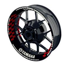 Felgenaufkleber Motorrad Felgenrandaufkleber Wheelsticker Yamaha Grid rot - S