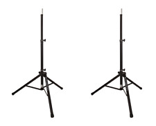 Ultimate Support Ts-80B Tripod Speaker Stand w/ Integrated Speaker Adapter (Pair