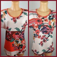 NEW Ex Principles Ladies Pink Floral Print Jersey Top Size 12 - 18