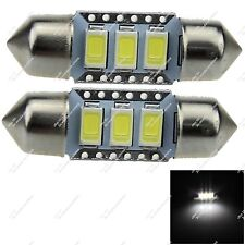 2X Festoon 36MM 6423 3 SMD 5630 LED Reading Light Canbus Error Free Car ZI123