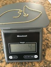 """14kt Yellow Gold Rope Chain Necklace 17.25"""" 4g."""