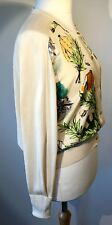 """VINTAGE HERMES """"cours une Chantilly"""" Soie & Coton Cardigan Maurice Taquoy années 90"""