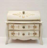 Vintage Miniature Blonde Dresser Musical Jewelry Box 9.5x 8.5 x 5 Acosns Import