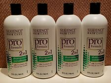 Lot Of (4) SILKIENCE HAIR CARE Pro Formula 2-in-1 SHAMPOO & CONDITIONER 32 FL OZ